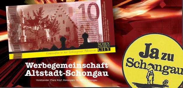 Auf  dem Bild sind die Chips der Werbegemeinschaft Schongau zu sehen.